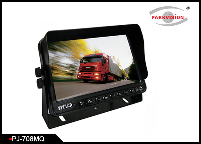 High Brightness Bus Rear View Camera With 7 Inch Digital Quad Screen Monitor